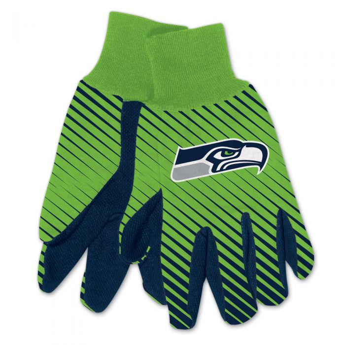 SEATTLE SEAHAWKS ADULT TWO TONE SPORT GLOVES