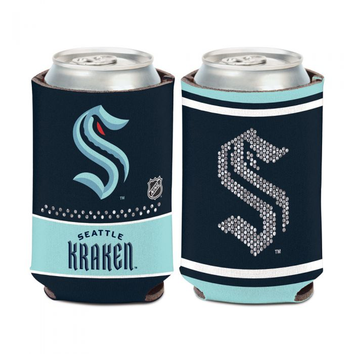 SEATTLE KRAKEN BLING CAN COOLER 12 OZ.