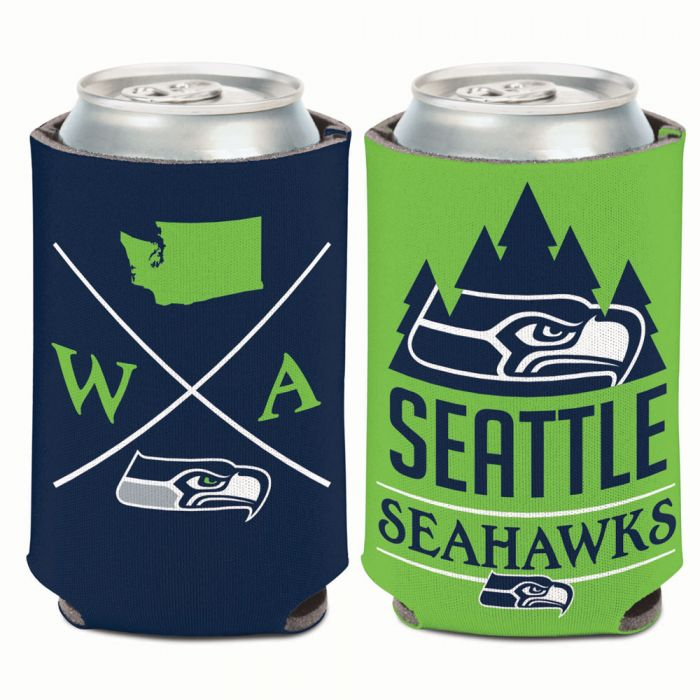 SEATTLE SEAHAWKS HIPSTER CAN COOLER 12 OZ