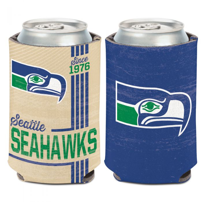 SEATTLE SEAHAWKS / CLASSIC LOGO VINTAGE CAN COOLER 12 OZ