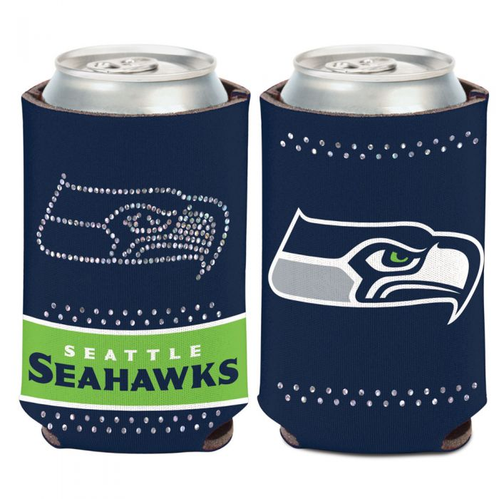 SEATTLE SEAHAWKS BLING CAN COOLER 12 OZ