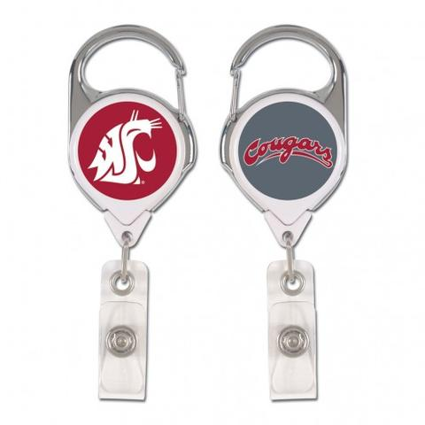 wsu cougars badge holder