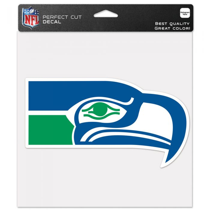 "SEATTLE SEAHAWKS / CLASSIC LOGO RETRO PERFECT CUT COLOR DECAL 8"" X 8"""