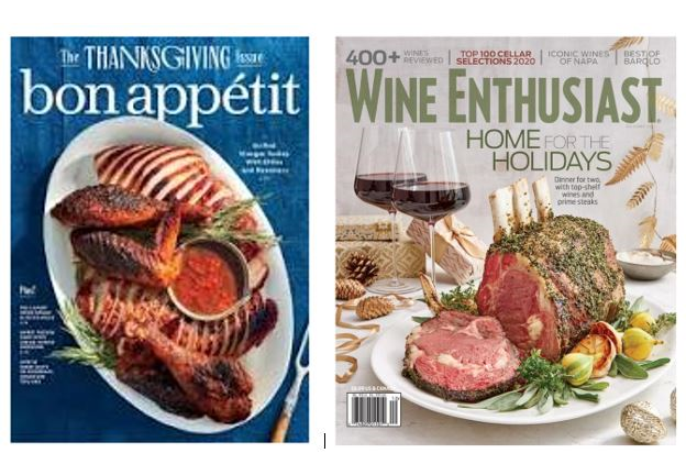 Great Gift For That Wine And Food Lover In Your Life -Wine Enthusiast Magazine (36 Issues) & Bon Appetit Magazine (48 issues)