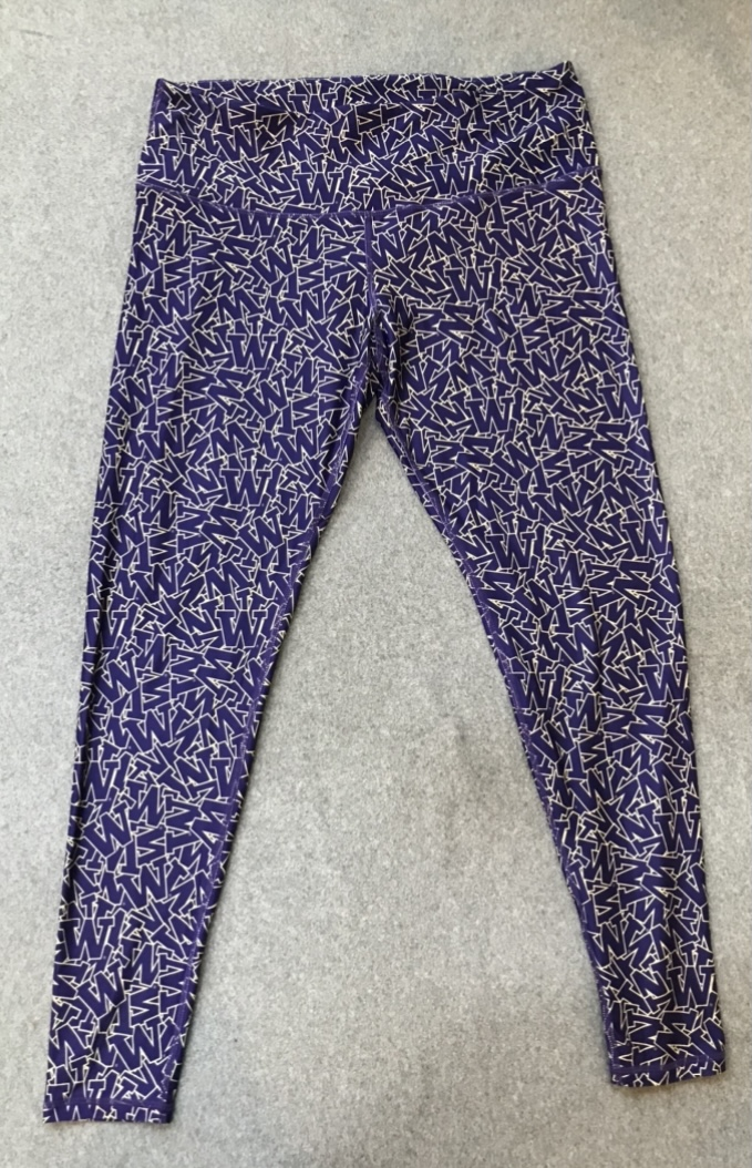 Purple UW Logo Leggings