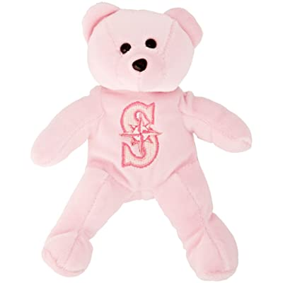 "Seattle Mariners Pink Solid 8"" Bear"