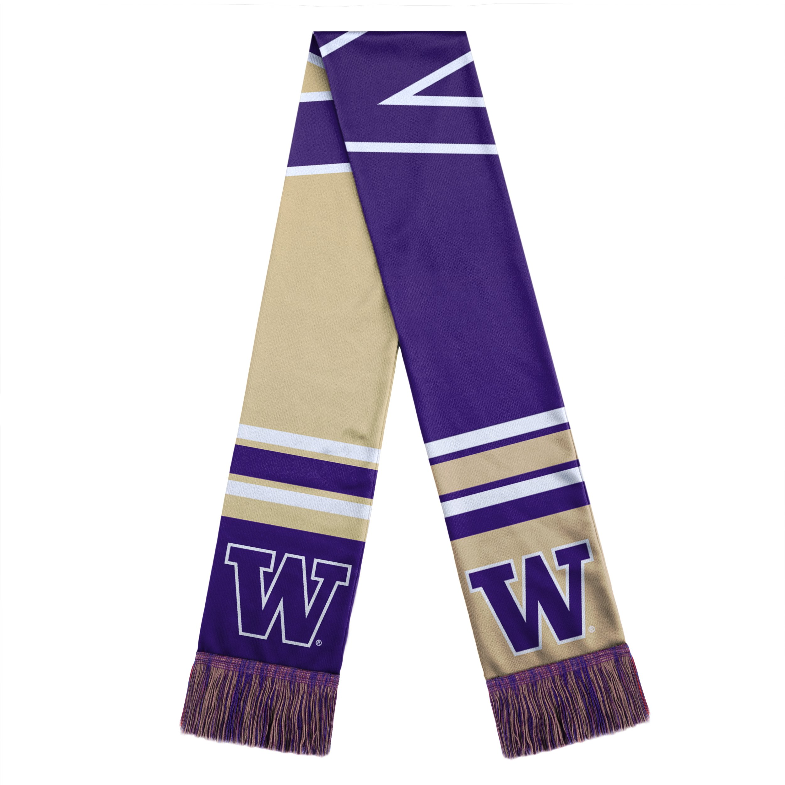 WASHINGTON HUSKIES COLORBLOCK BIG LOGO SCARF