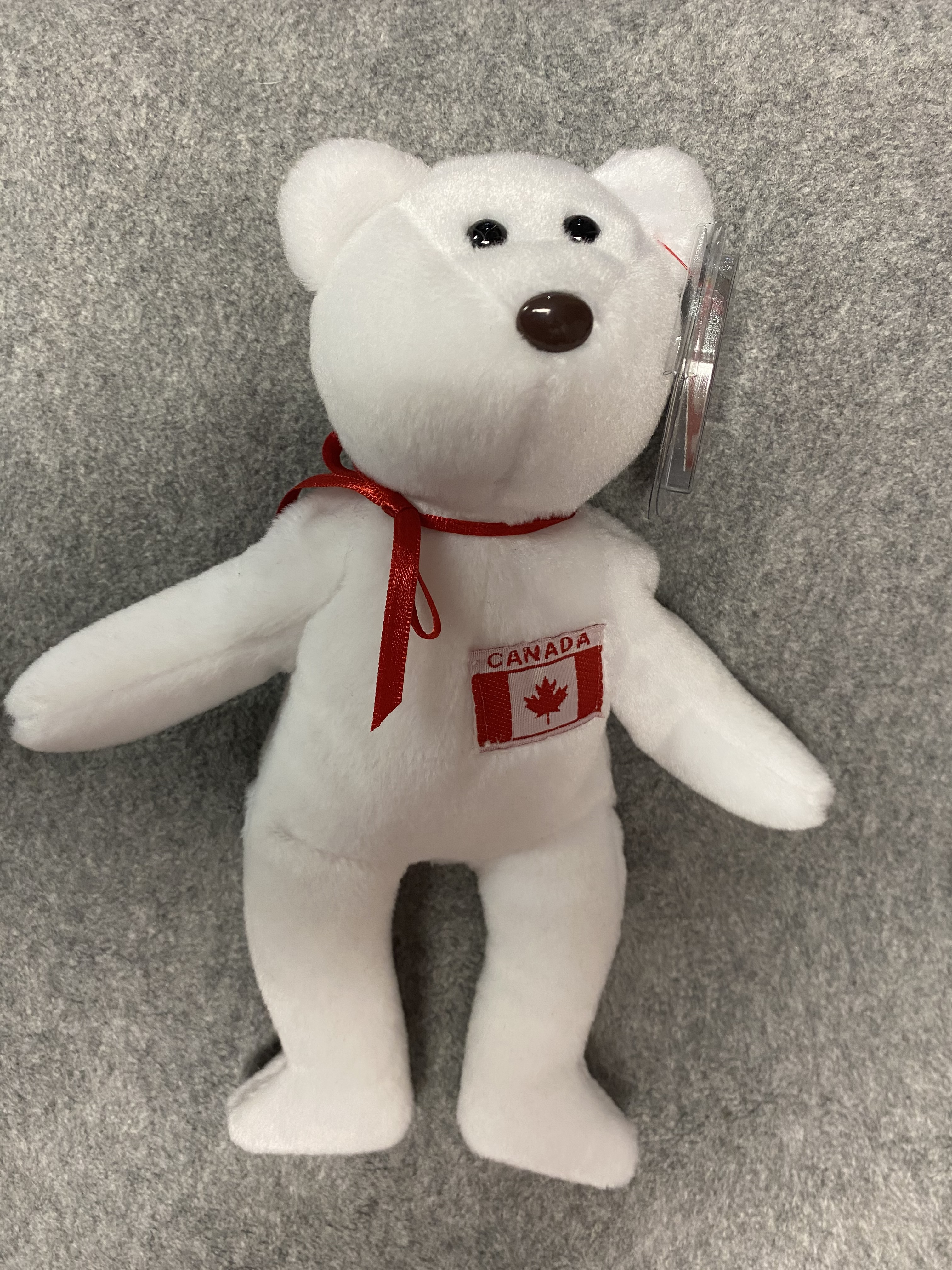 White Canadian Bear Beanie Babies