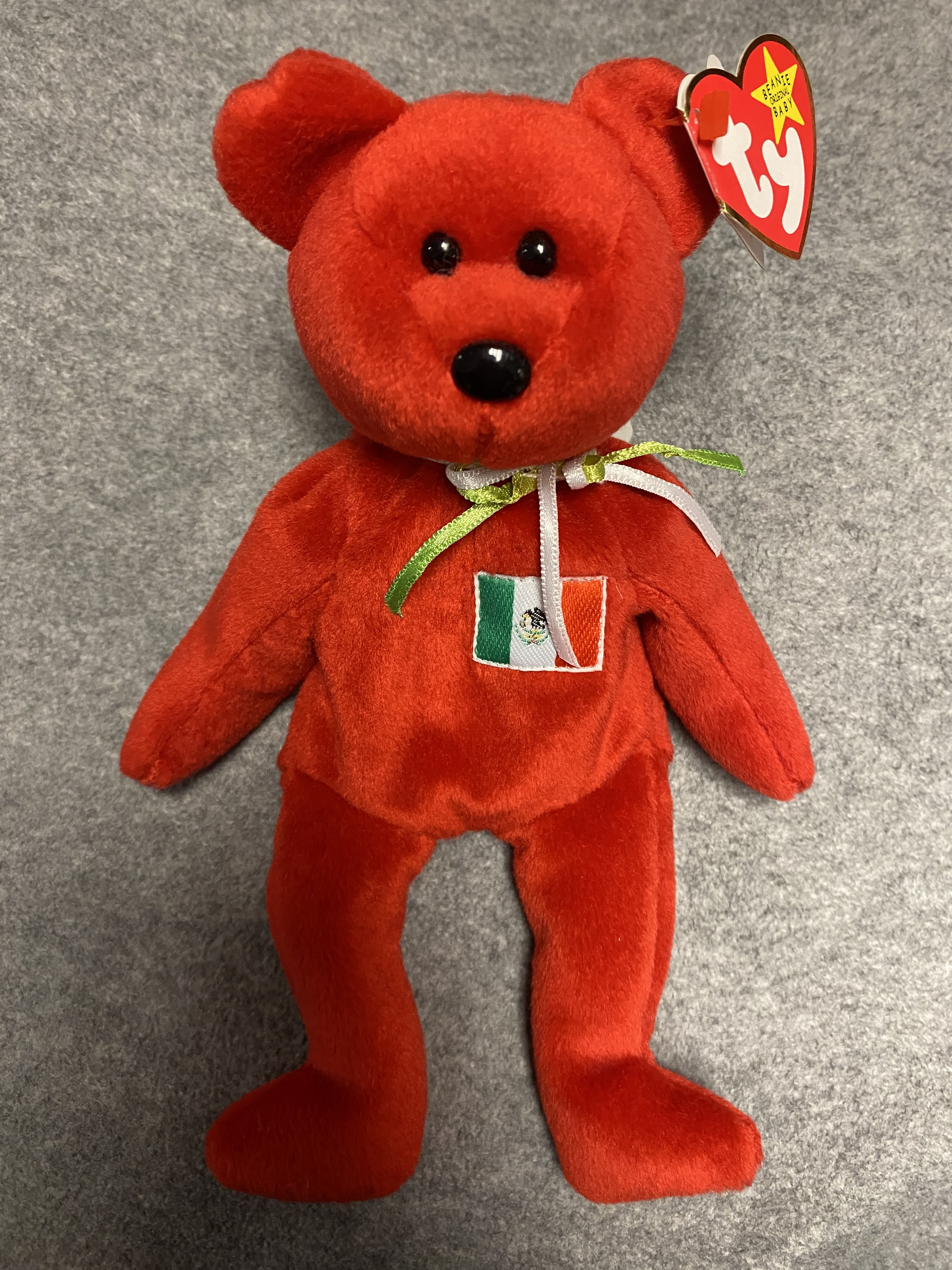 Red Mexico Bear Beanie Babies