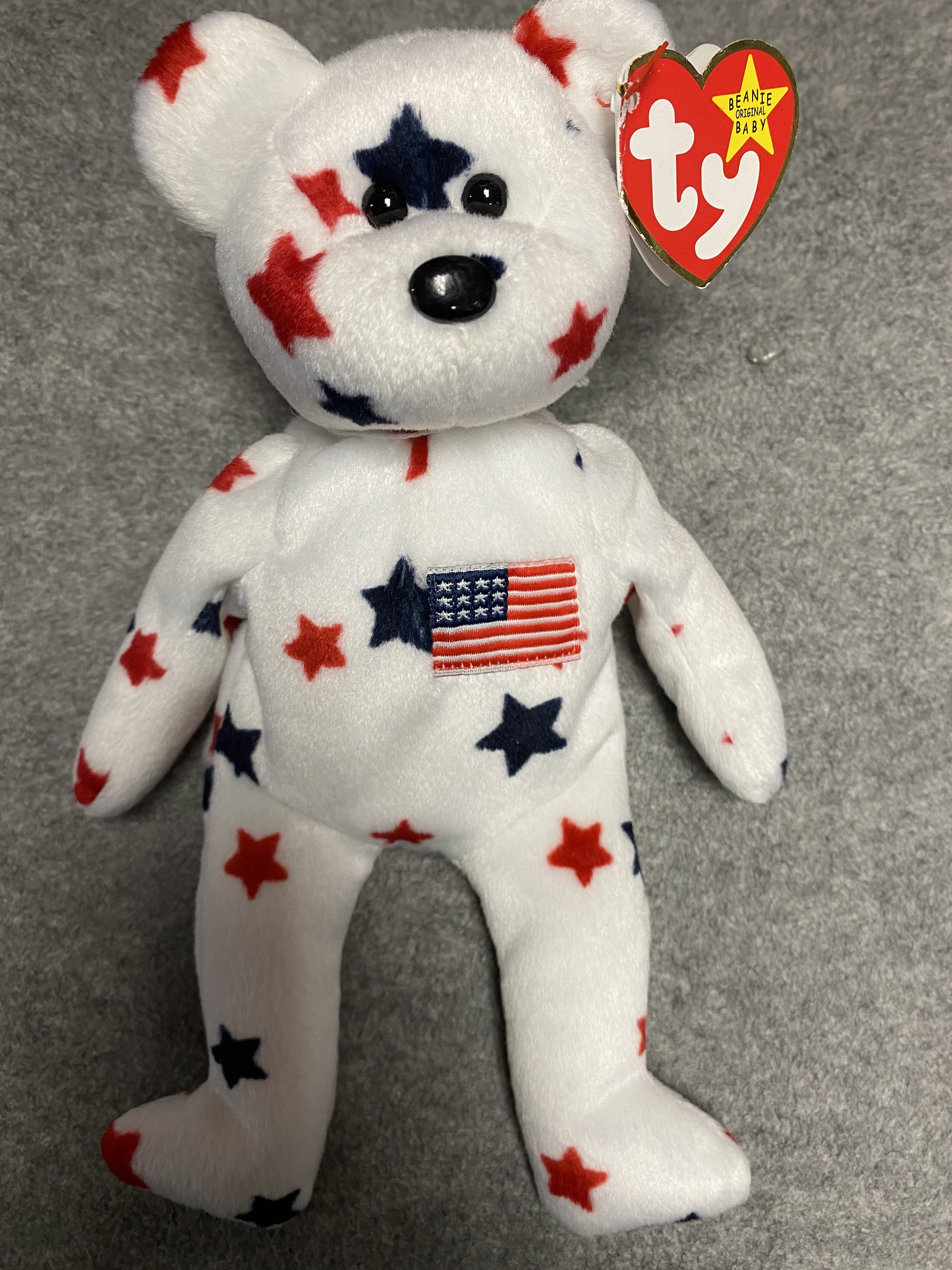 White America Bear Beanie Babies with Stars
