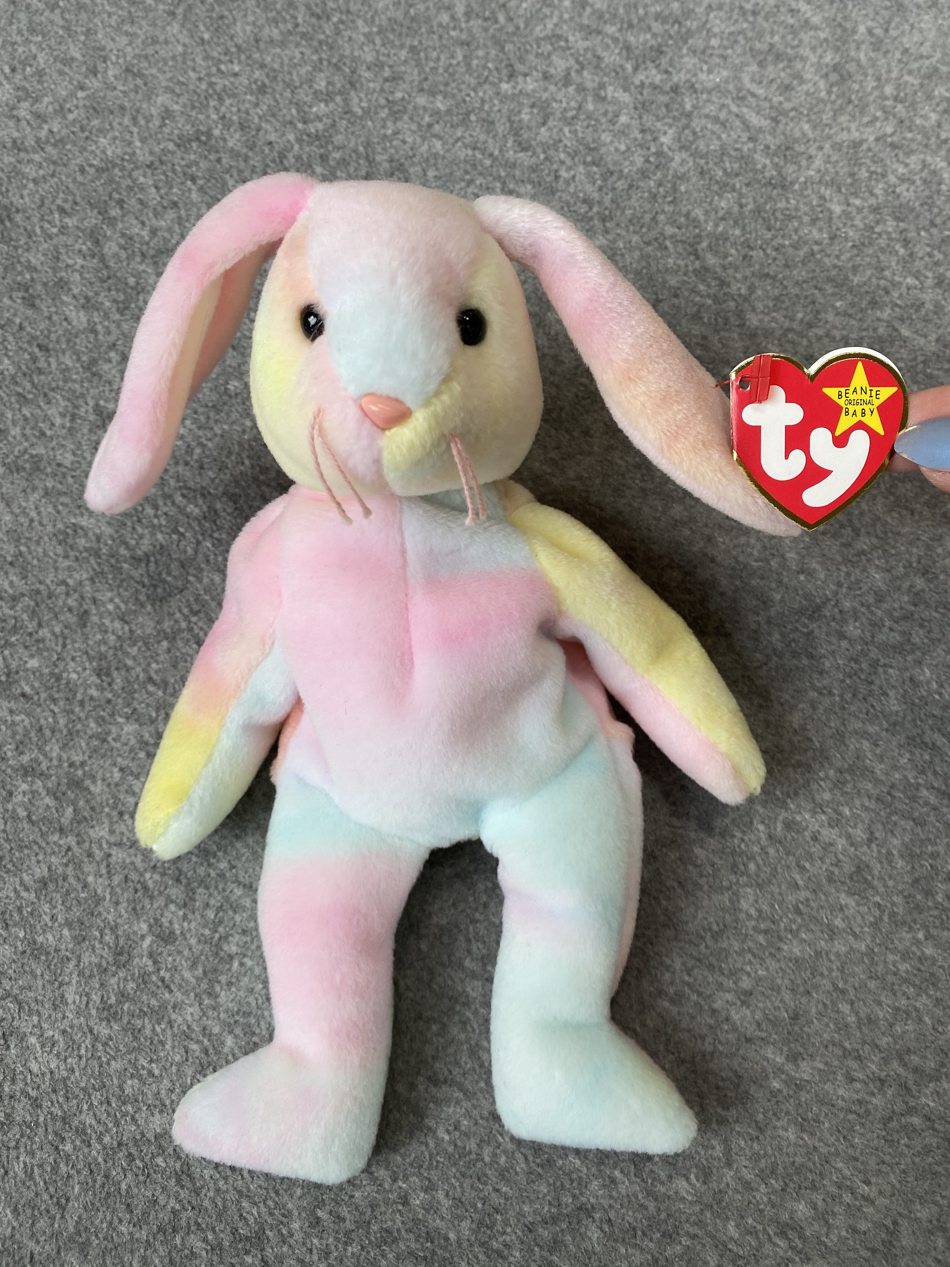Multicolored Bunny Beanie Baby
