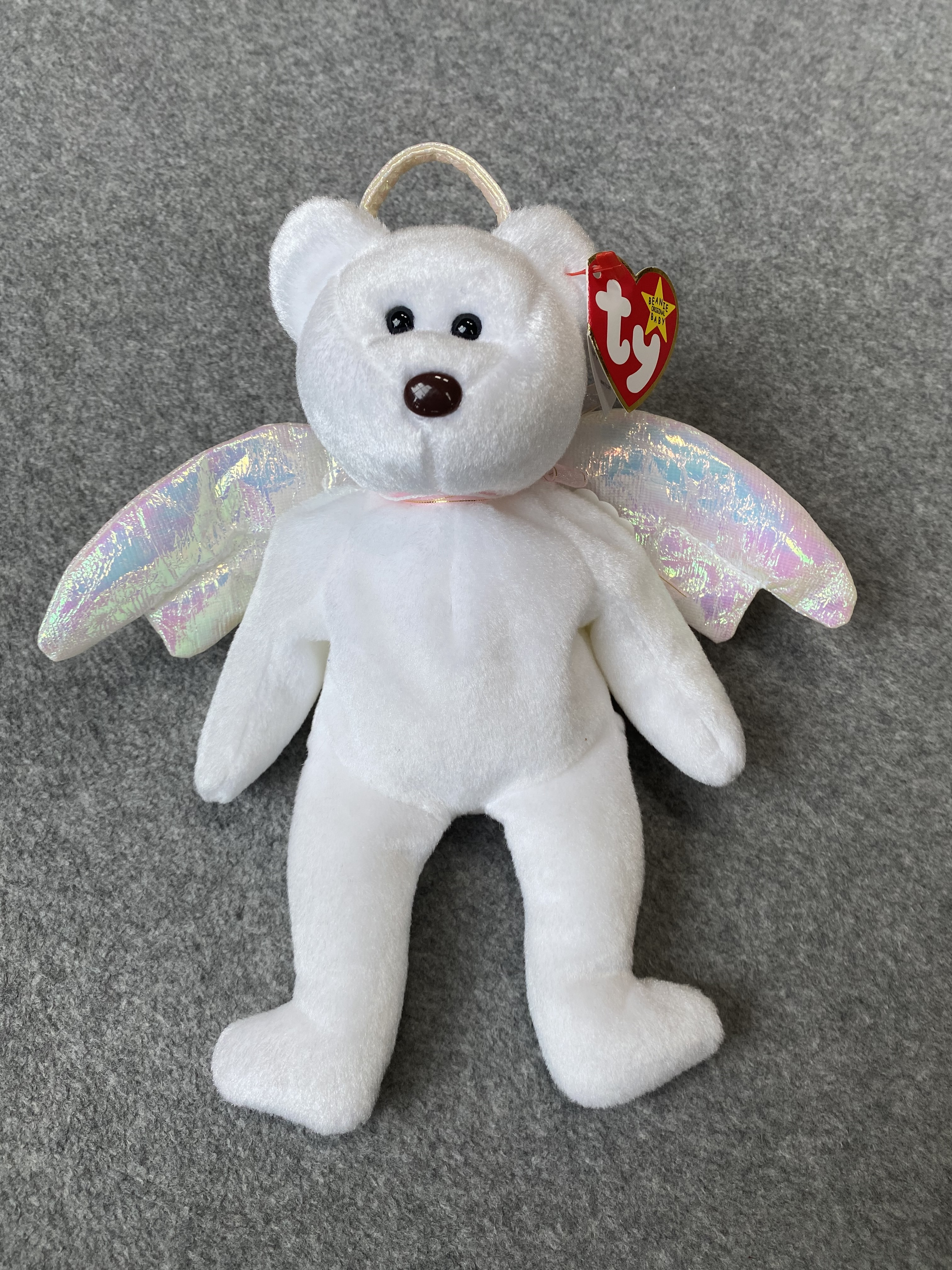 White Angel Bear Beanie Babies
