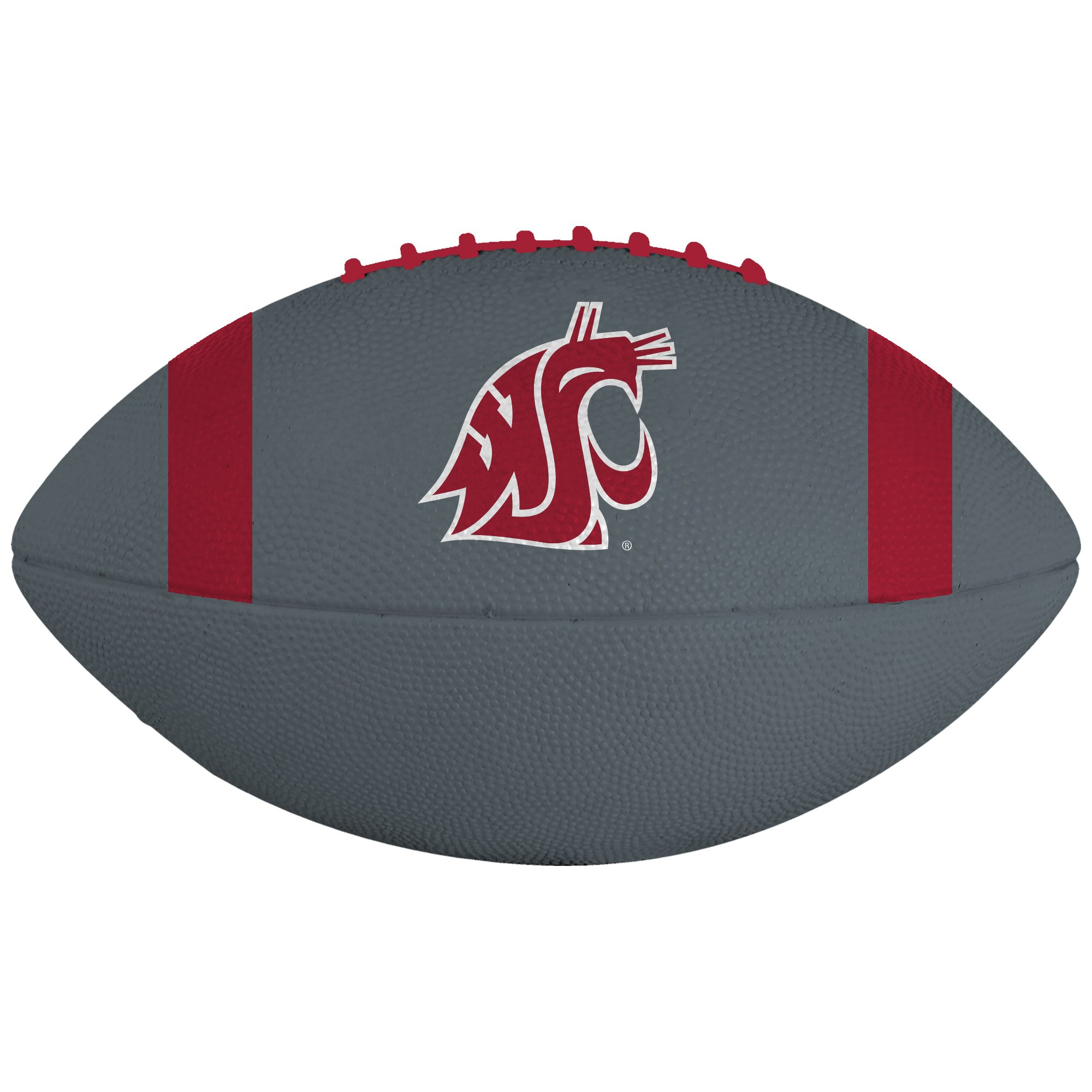 Grey WSU Small Rubber Football