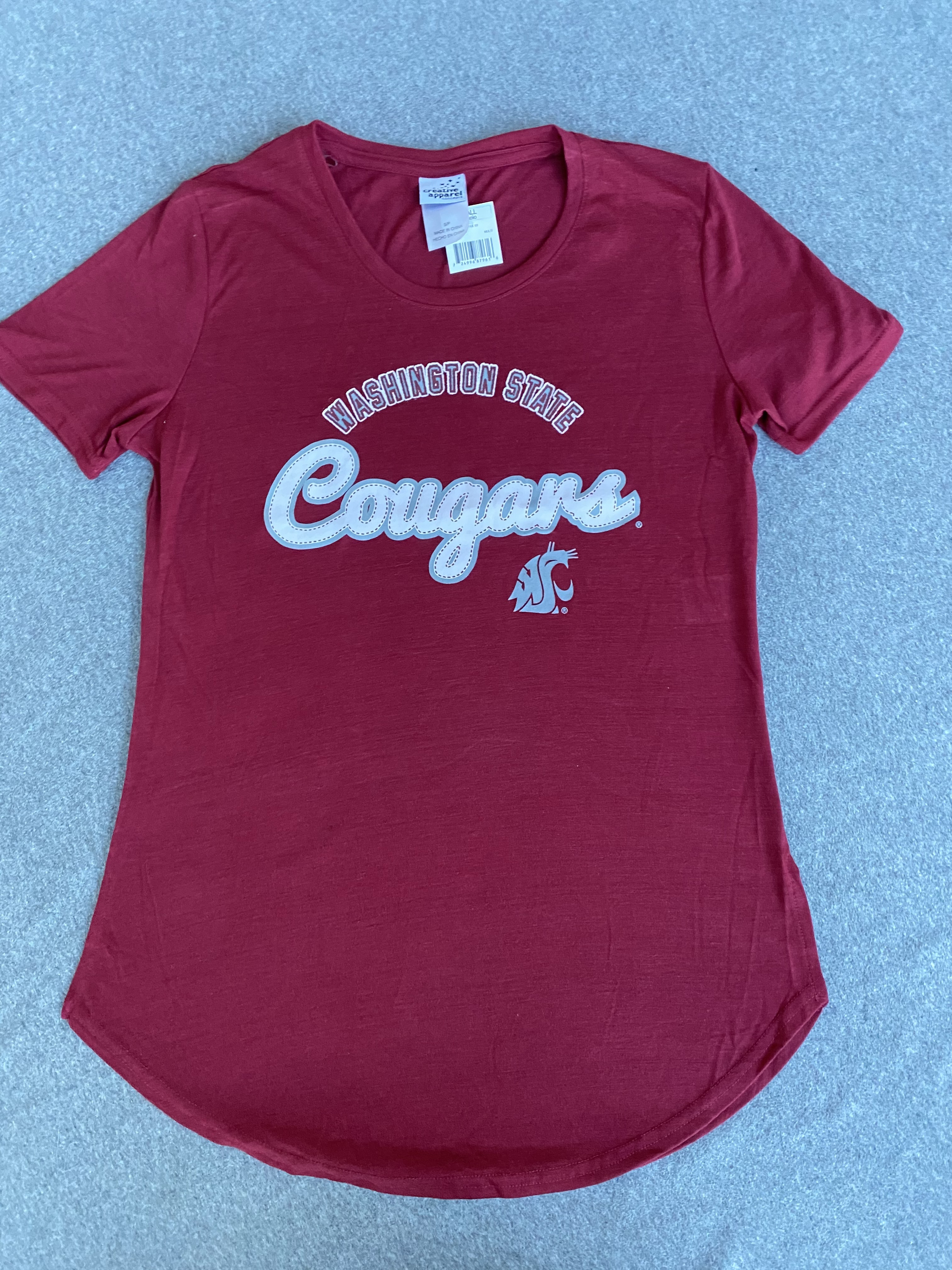 Women's Crimson Washington State Cougars T-shirt