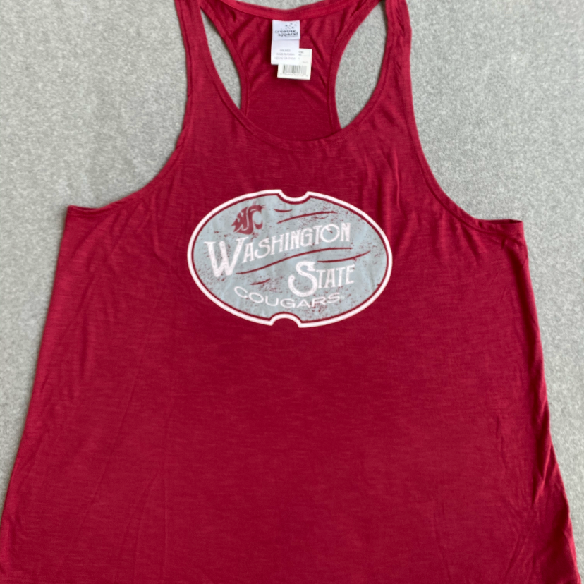 Crimson Washington State Tank Top