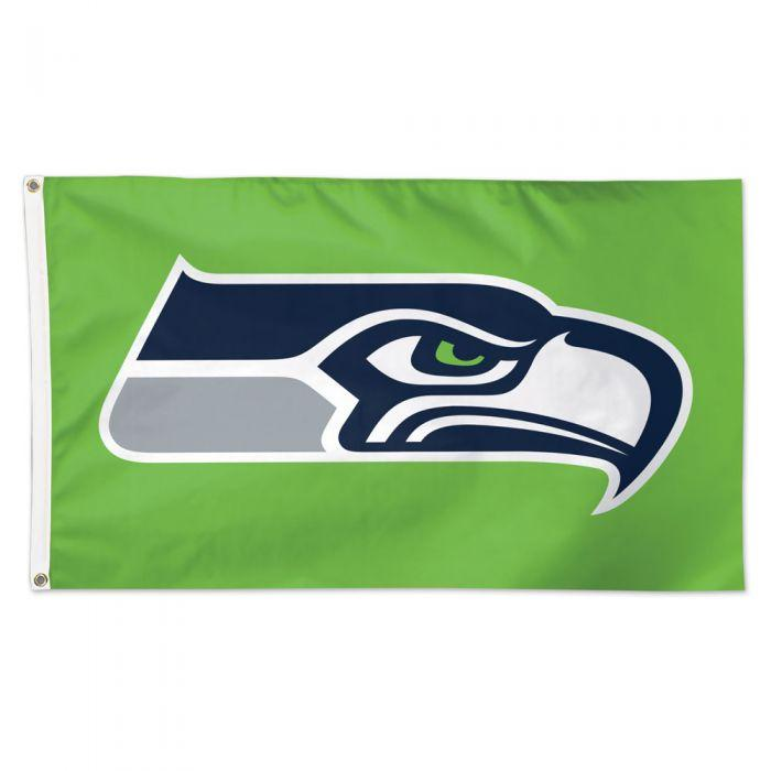 Seattle Seahawks Green Background Flag - Deluxe 3' X 5'