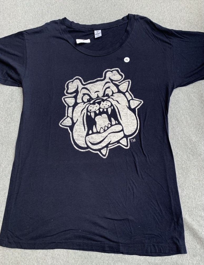 Women's Navy Gonzaga Bulldogs Logo T-Shirt