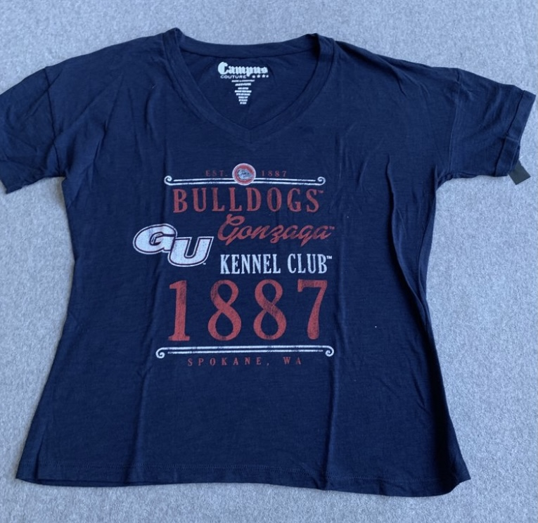 Women's Navy Gonzaga Kennel Club T-Shirt Medium
