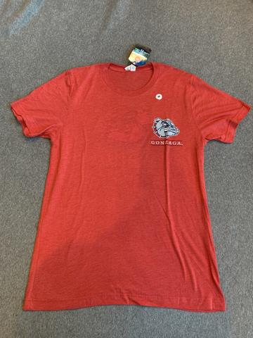 Ladies Gonzaga Bulldogs Tee with Logo On Back