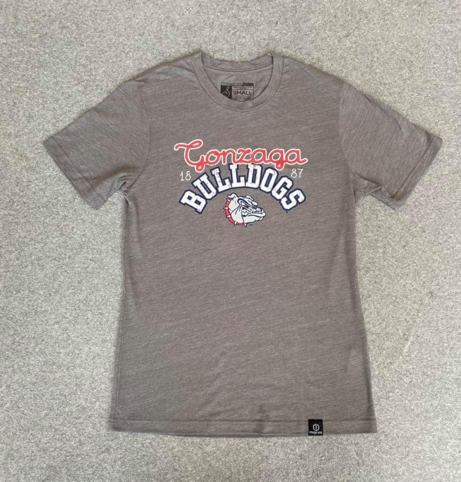 Women's Grey Gonzaga Bulldogs T-Shirt