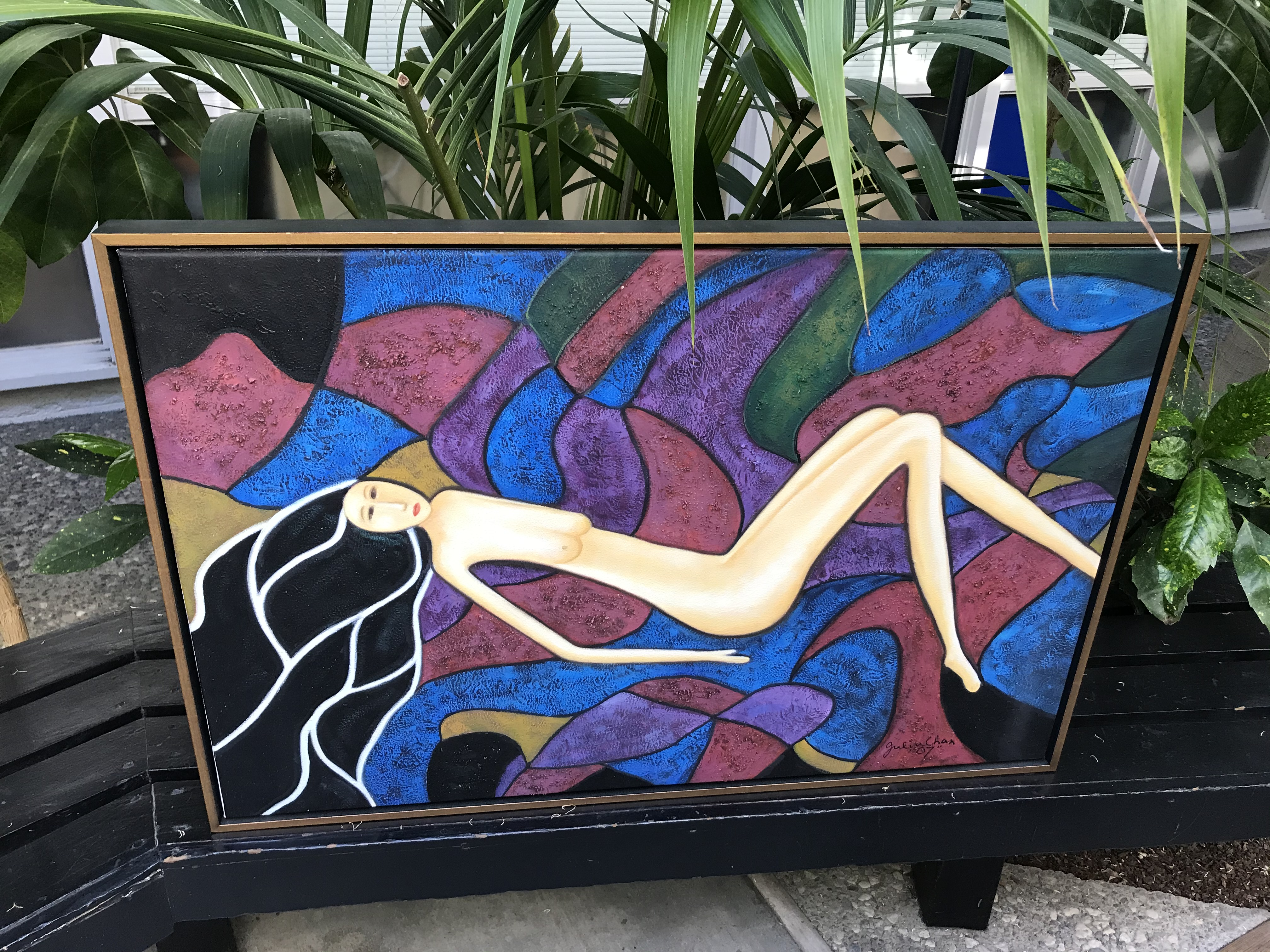 Reclining Nude wall painting