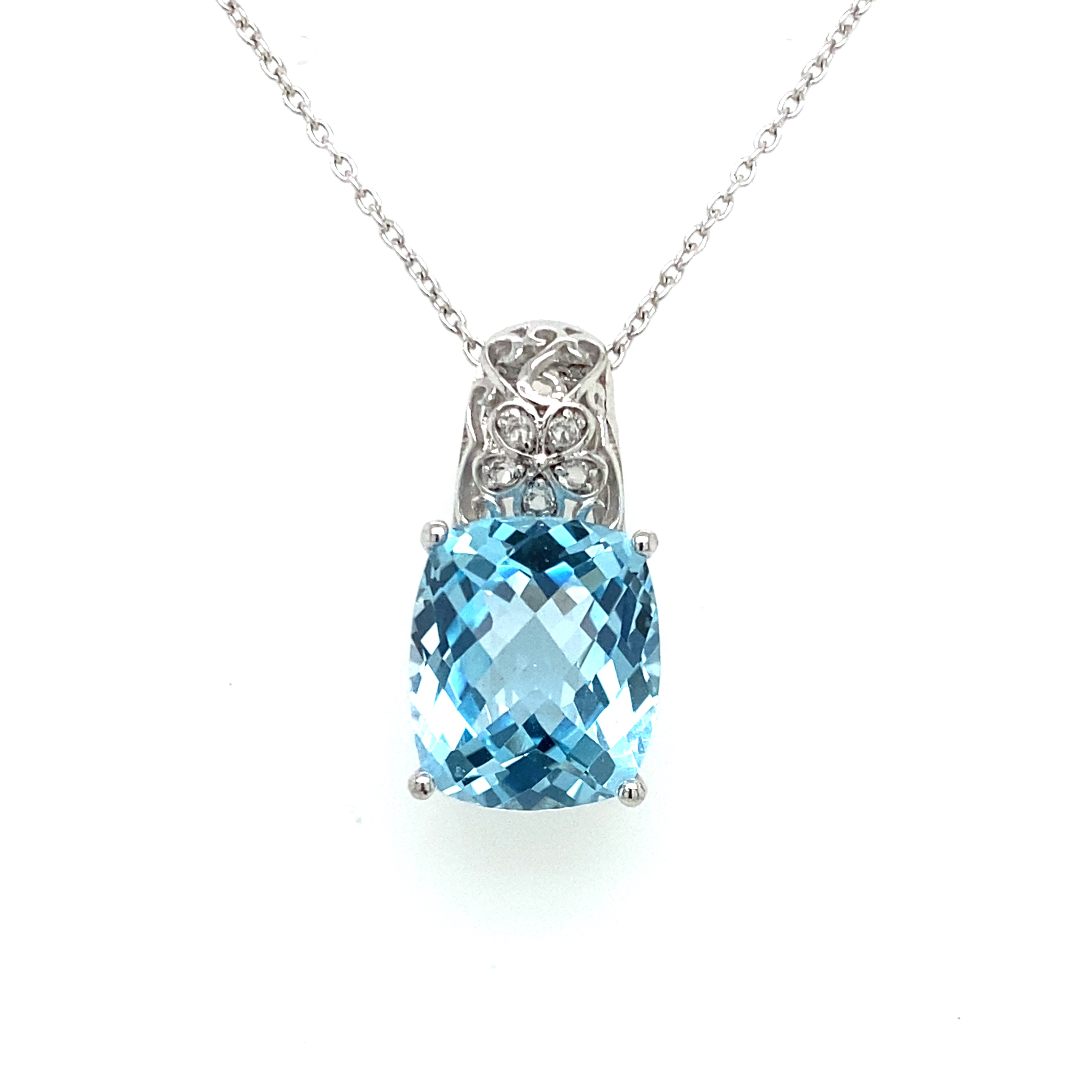 Sterling Silver and Sky Blue Topaz Pendant