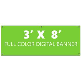 3' x 8' Single Sided Full Color Banner