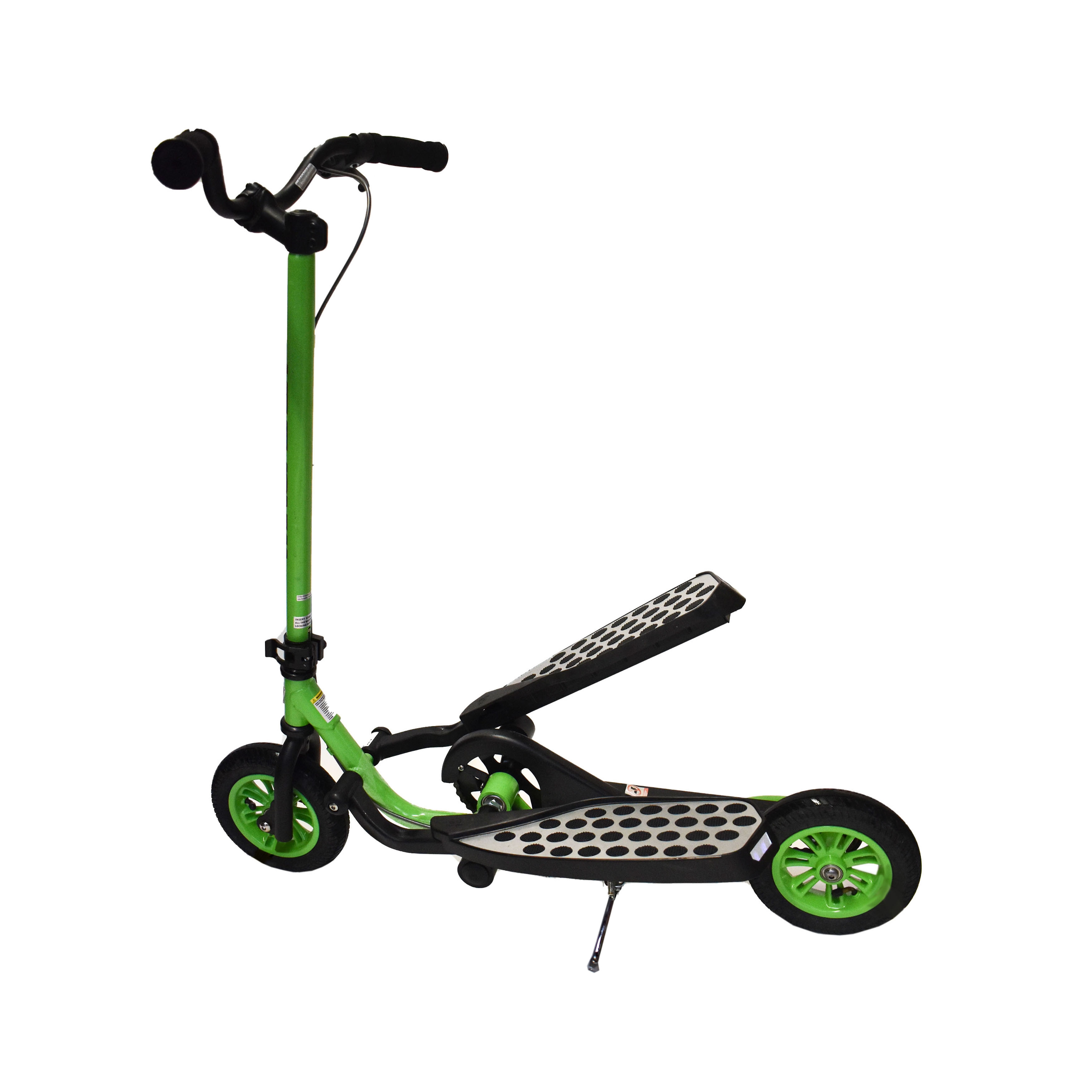 Zike Fly Range Motion Portable Scooter Stepper Bike for Youth - Lime Green