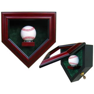Baseball Homeplate Shaped Display Case