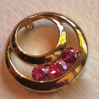 14k Gold, natural unheated Pink Malawi Sapphire earring (posts) SINGLE EARRING VIEW