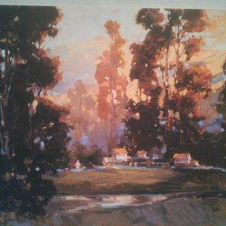 "Landscape Friedman Fine Art print on Canvas-Stretched 33""x28"