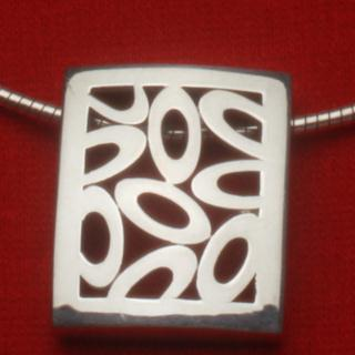 """Charmed"" Sterling Silver Necklace"