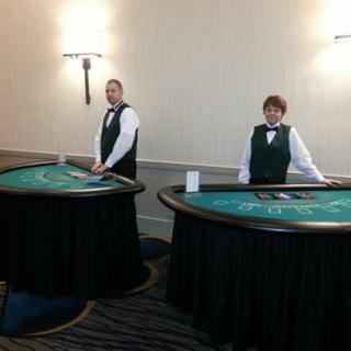 3 Table Casino Party with Large Craps Table