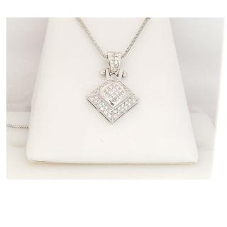 Square Diamond Pendant