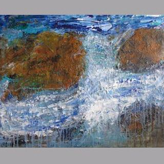 """Crashing Waves"" Original Painting By Marques Vickers"